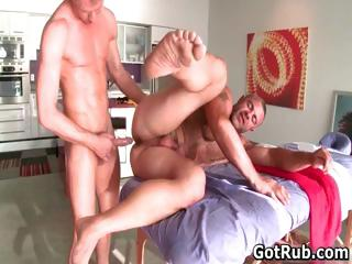 Hot guy get his amazing body massaged part5