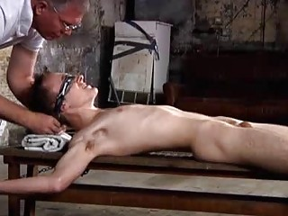 Justin James And His Cock Tied Down For PinWheel