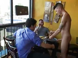 Bdsm gay fuck hard by group be required of patrons in reastaurant