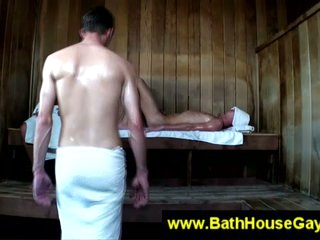 Gay dirty conduct oneself in sauna