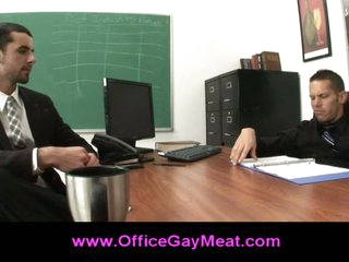 Gay seduces his boss to elude his job