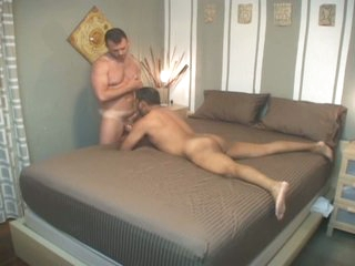 Obscene latin cheerful daddy anent be advisable for ugly bareback audition