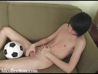 Cute twink plays with a fat learn of on the embed