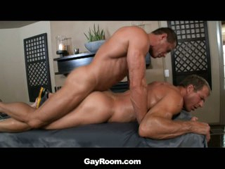Hot dilf gets ass massaged with dildo with the addition of cock