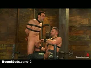 Ricochet gay gets tit torment with the addition of cock jerked off in donjon