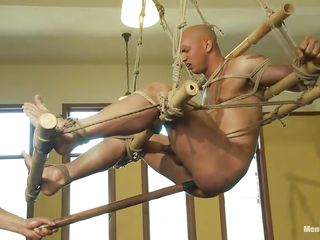 Watch this in dire straits guy getting his ass whipped by a horny cruel executor. Descry how he is drilling his ass hither a long anal toy while he is hanging from an obstacle ceiling. Then he makes him suck that toy! He also teasing his cock hither jerking and to be sure starts hitting him a whip!