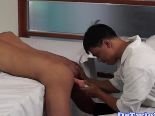 Asian doctor goes respecting on an home-grown twink