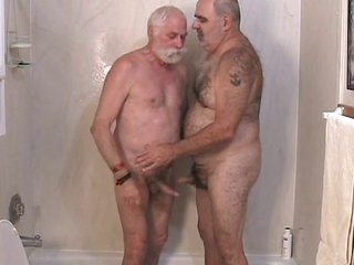 A handful of mature men getting gone