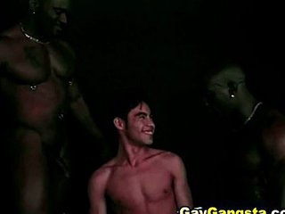 Hot Black Gays Threesome Anal Fuck