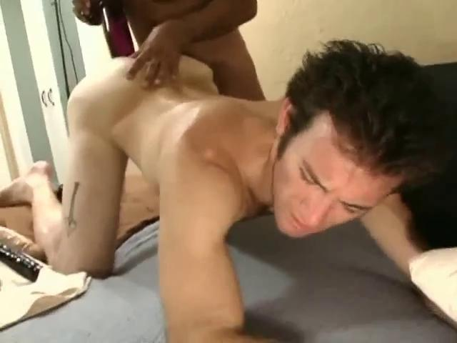 Sensual ebon haired gay fella gets a unselfish dildo up his tight irritant hole