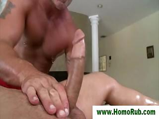 Straight guy gets more than rub down