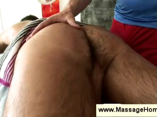 Massage & handjob for comply with gay