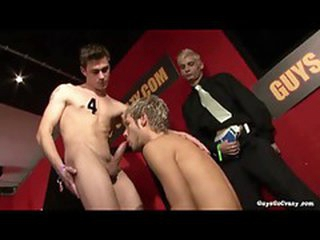 Guys sucking cock relating to a group sex scene