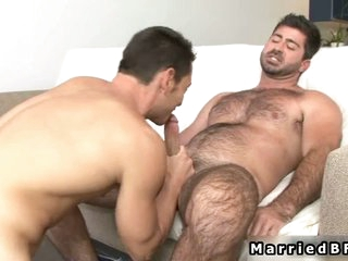 Spoken for man gets cock sucked