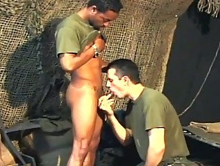 Two gay army studs having hardcore anal ache