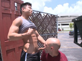 Sexy Asian detached treats his new boyfriend outdoor with an east unending dick.