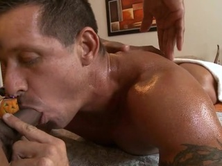 Massaging his constricted abdomen with an increment of huge unearth