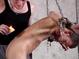Leo James In Hot Gay Bondage And Wax Intercourse