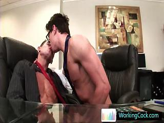 Seth having some gay porn fun with bells Wits WorkingCock part3