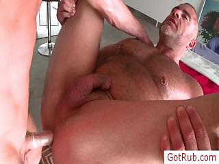 Muscled guy property his gumshoe rubbed by gotrub