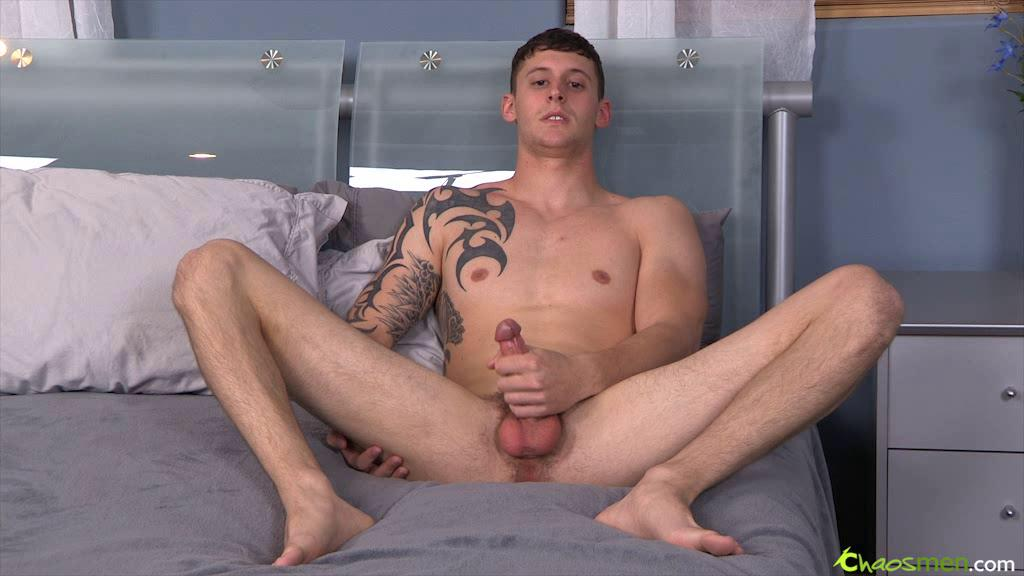 Watch hot guy strokes his fat flesh