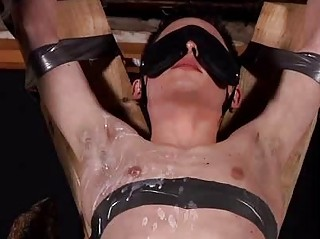 Aaron Aurora Tied Almost Blindfolded And Sucking