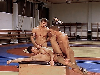 Wrestlers get privately coached before getting fucked off out of one's mind their coach...