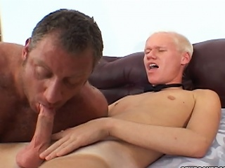Christian Luke gets his cock sucked apart from a burly bear stud...