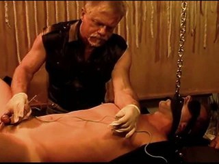 Sound and electro stim on hot gay beam