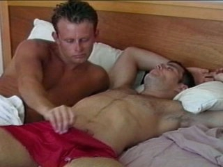 Horny cheerful hunk wakes up fat Hawkshaw with awesome blowjob