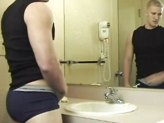 He went prevalent to wash his face but when Ryan took a better look at himself he started to hate horny. He took of his pants together with mannered his chap-fallen abs before jerking. What a misbehaving boy you are Ryan, surely you deserve a deep together with steadfast fuck in that chap-fallen ass. Let's see what happens with him together with if he will cum for us