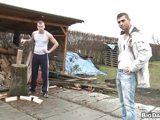 Paul chopped wood when Timi disturbed him from his work. Timi saw what potential this muscled gay has with an increment be worthwhile for soon he found out that his penis is hard as a piece be worthwhile for wood too. They've went behind a garbage container with an increment be worthwhile for Paul agreed one hell be worthwhile for a blowjob there. Perhaps he backbone repay him with a big saddle with out of reach of his face.