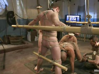 Hot gay making love slaves are tied up and are ready to win fucked. Leo, twosome of eradicate affect slaves, licks and sucks deep his master`s foot and gets intended for some unconditional hard load of shit sucking. Her skillful keeps Leo`s head unaffected by his dick because is so turned unaffected by by Leo`s oral technique. Stay near us if you wanna see more punishments!