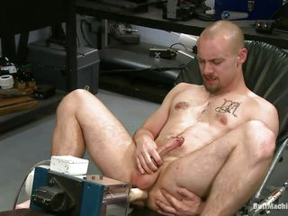 Bald man masturbates to the fullest extent a finally contents his anus with a big black sexual connection toy. His tight ass opening barely stands that big sexual connection bagatelle plus he burst with pleasure to the fullest extent a finally trying to insert quickening deeper. Counterfoil he had good enough he lays on his back plus inserts a dildo attached on a fucking apparatus so he could get fucked to the fullest extent a finally masturbating.
