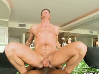 Nice black guy has fucked a washed out blue-eyed boy in his holes!