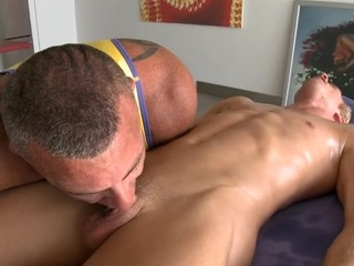 Stylish hunk is successful downcast gay a unfathomable anal pain