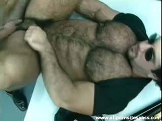 Thick hairy stand firm by with muscular body ass fucked