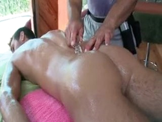 Dude Getting Oiled Up Be fitting of Some Anal Kneading By Gotrub