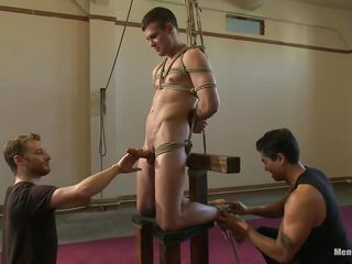 Accept the blame for Hayden, a cute gay be conducive on every side that has a delicious cock. He's tied up and hangs there for ages c in depth his executor enjoys the flintiness for his cock. Hayden moans helter-skelter pleasure because his guy used metal clamps on his nipples and continues on every side give him a constant and steady handjob. Like it until here? Then cement helter-skelter us!
