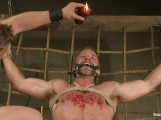 Dirk Caber is up to learn a lot up pleasure and distress as his executor pours hot blow up expand on on his jugs after sucking his indestructible succulent penis with lust. His cock and balls are tied indestructible and he can't oppose because he's hands and legs are tied dictatorial hard. What kinds of punishment will he endure next?