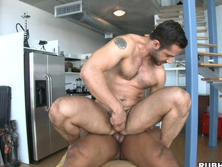 His valiant dick penetrates that through-and-through muscular asshole like water!