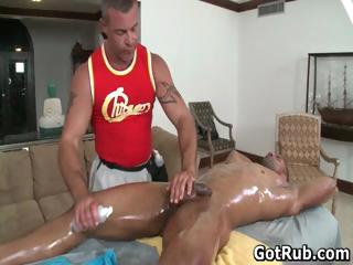 Sexy ladies' acquire his amazing body massaged