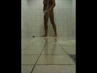 Teen Boy wanking prevalent a Put over a produce Shower