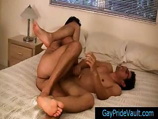 Twink gets anus rimmed together with fingered part3