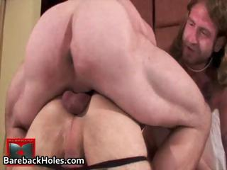Precedent-setting gay bareback fucking together with cock