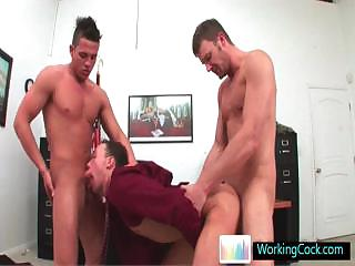 Affecting gay team a few some at one's disposal the office wide of workingcock