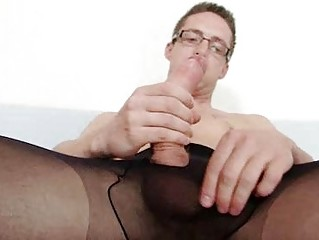 Solo blithe Haycock cums primarily his nylon panties
