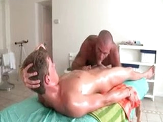 Sexy Guy Gets Oiled Up And Prepped Be worthwhile for Gay Massage 3 Hard by GotRub