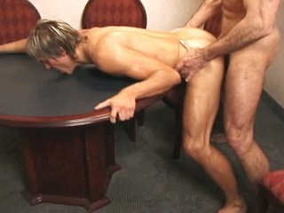 Hory police pauper drilling a cute blonde gay