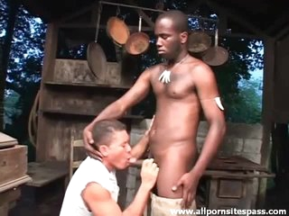 Descry black load of shit sucked by a Latino